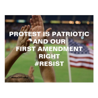 Protest is Patriotic First Amendment Resistance Postcard
