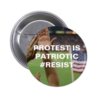 Protest is Patriotic Resistance 2 Inch Round Button