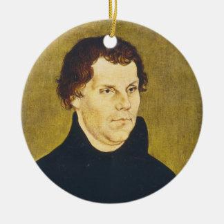 Protestant Reformist Martin Luther by L. Cranach Round Ceramic Ornament