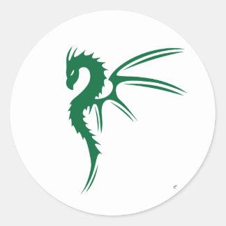 Prothero the Green Dragon Classic Round Sticker
