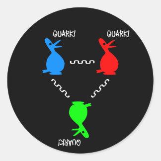Proton Quark Duck Classic Round Sticker