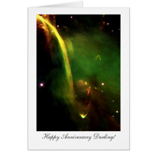 Protostar Herbig-Haro 34 Happy Anniversay Darling Card