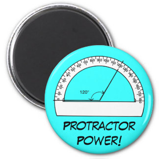 Protractor Power 2 Inch Round Magnet