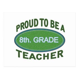 Proud 8th. Grade Teacher Postcard