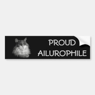 Proud Ailurophile ( Cat Lover) Maine Coon Bumper Sticker
