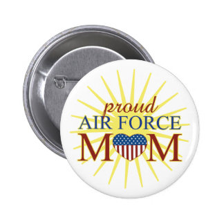 Proud Air Force Mom 2 Inch Round Button
