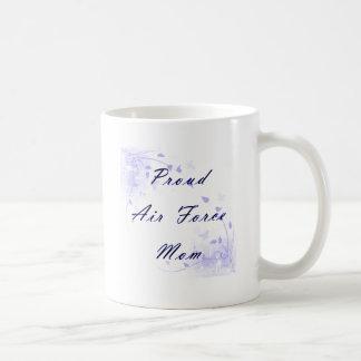 Proud Air Force Mom Basic White Mug