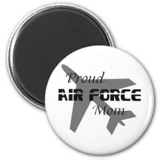 Proud Air Force Mom Black & White 2 Inch Round Magnet