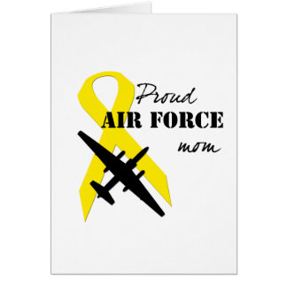 Proud Air Force Mom Greeting Card