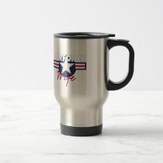 Proud Air Force Wife Travel Mug