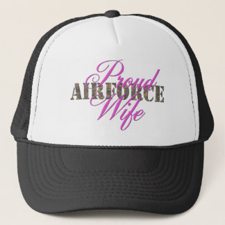 proud air force wife trucker hat