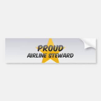 Proud Airline Steward Bumper Stickers