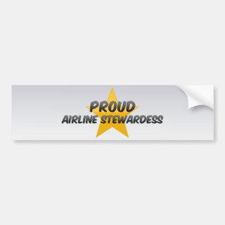 Proud Airline Stewardess Bumper Sticker