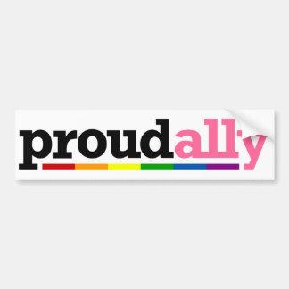 Proud Ally White Bumper Sticker