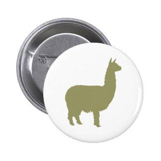 Proud Alpaca (in sage green) Pinback Buttons