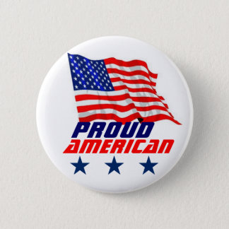 Proud American 2 Inch Round Button