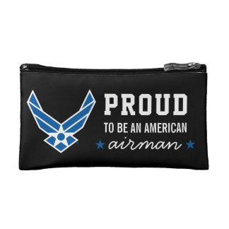 Proud American Airman Cosmetic Bag