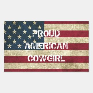 Proud American Cowgirl Sticker
