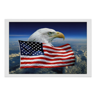 Proud American Eagle Poster