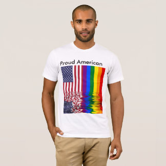 Proud American Gay Pride USA Flag T-Shirt