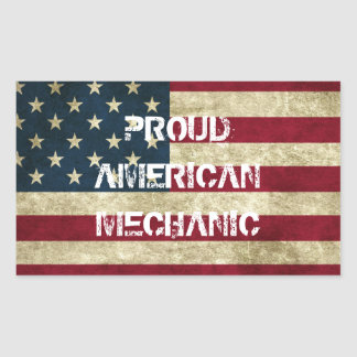Proud American Mechanic Sticker