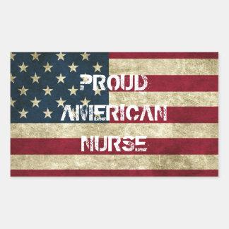 Proud American Nurse Sticker