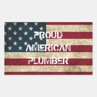 Proud American Plumber Sticker