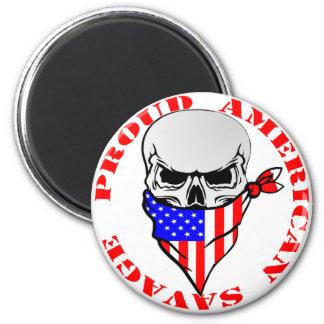 Proud American Savage  FB.com/USAPatriotGraphics © Magnet
