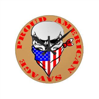 Proud American Savage  FB.com/USAPatriotGraphics © Round Clock
