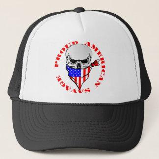 Proud American Savage  FB.com/USAPatriotGraphics © Trucker Hat