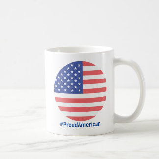 Proud American USA Circle Flag Mug