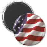 Proud and Patriotic USA Flag 2 Inch Round Magnet