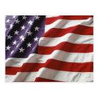 Proud and Patriotic USA Flag Postcard