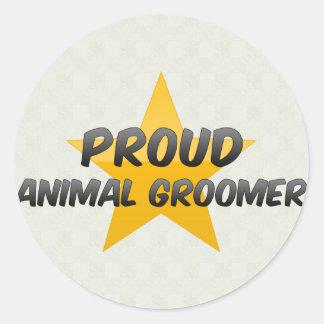 Proud Animal Groomer Round Sticker