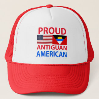 Proud Antiguan American Trucker Hat