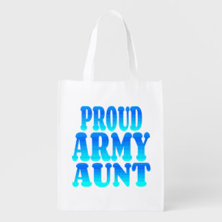 Proud Army Aunt Reusable Grocery Bag