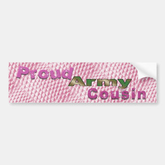 Proud Army Cousin Pink Bumper Sticker