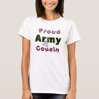 Proud Army Cousin Pink Shirt