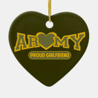 Proud Army Girlfriend Ceramic Ornament