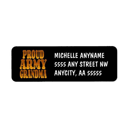 Proud Army Grandma in Gold