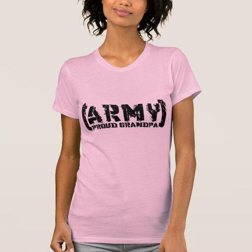Proud Army Grandpa - Tattered Tshirt