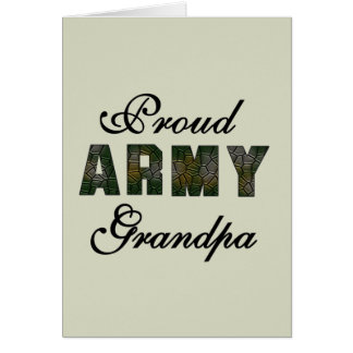 Proud Army Grandpa Tshirts and Gifts Greeting Card
