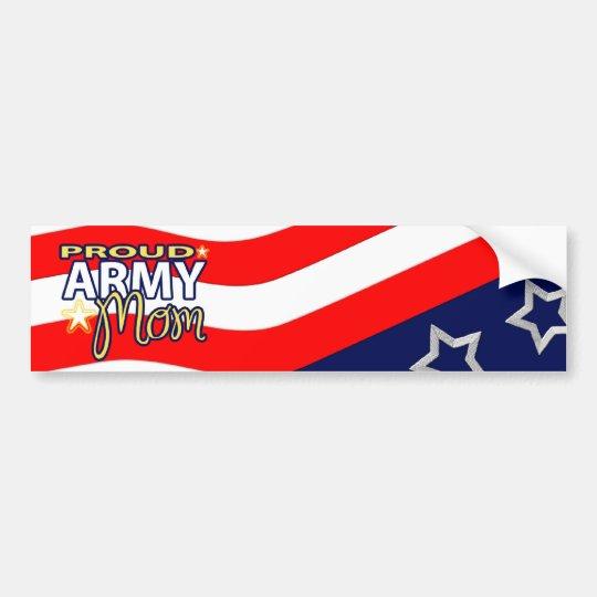 Proud Army Mom Bumpersticker Bumper Sticker