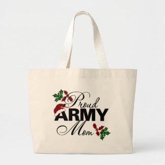 Proud Army Mom Christmas Holly Bag
