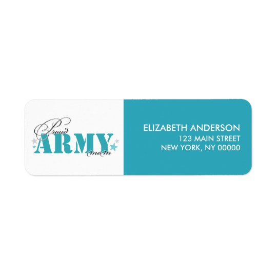 Proud Army Mom Return Address Label