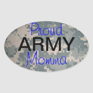 Proud Army Momma (oval) Oval Sticker