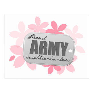 Proud Army Mother-in-law Flowers Postcard