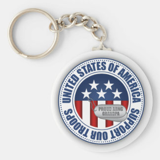 Proud Army National Guard Grandpa Keychain