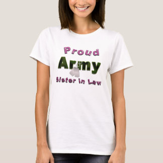 Proud Army Sister in Law Shirt