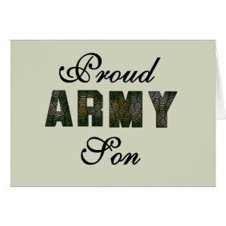 Proud Army Son Tshirts and Gifts Greeting Card
